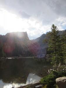 I loved the sun beams shining on Dream Lake.