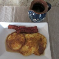 Clare's Cornmeal Apple Griddle Cakes with Homemade Cinnamon Syrup