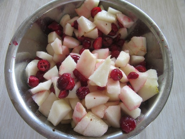 cranberries and pears
