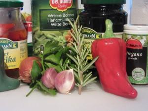 Bean dip ingredients