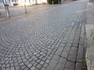 Stone paved streets