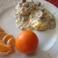 Country Sausage Gravy with Biscuits