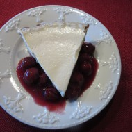 Sweet Cherry Cheesecake In A Pie Plate