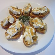 Tapas with Goat Cheese and Caramelized Onions