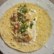 Fish Tacos With Garlic, Lime Aioli and Coleslaw