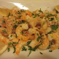 Broiled Shrimp with Garlic Herb Sauce