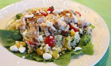 Chicken Couscous Salad with Tangy Lemon Mustard Vinaigrette