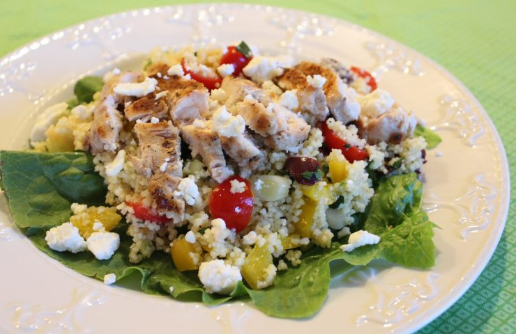 Chicken Couscous Salad with Tangy Lemon Mustard Vinaigrette