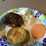 Skillet Fried Zucchini with Creamy Roasted Red Pepper Aioli