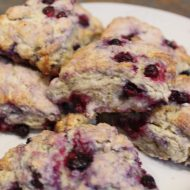 Lemon Scented Huckleberry Scones