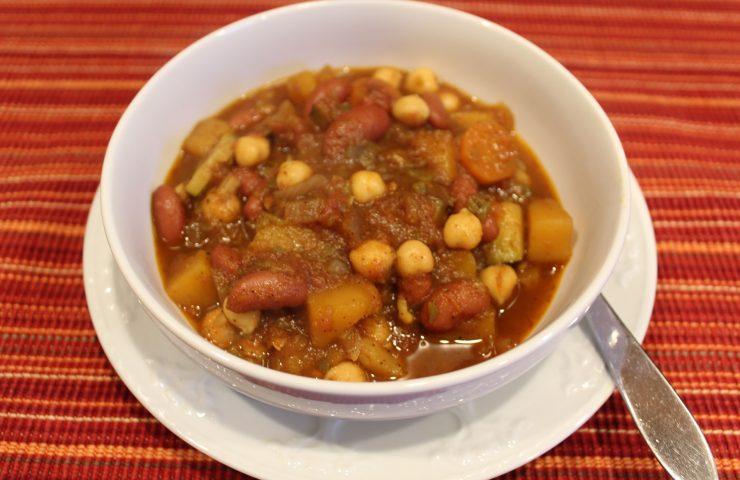 Vegetarian Butternut Squash and Carrot Chili
