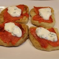 Smoked Salmon with Irish Potato Cakes