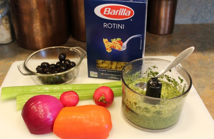Heat Wave Pesto Pasta Salad