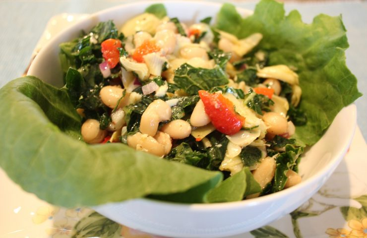 Mediterranean Kale and Cannellini Bean Salad