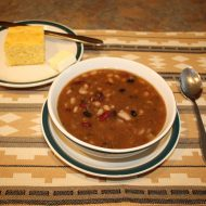 Tasty Vegetarian Five Bean Soup