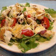 Turkey Club Salad with Garlic Dijon Dressing