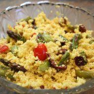 Roasted Asparagus with Spiced Couscous