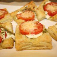 Pesto, Tomato and Cheese Puff Pastry